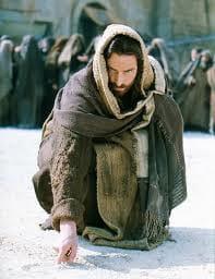 jesus-in-sand